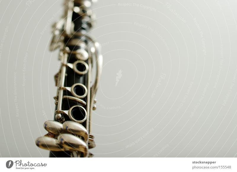 Klarinette Musik Instrument niemand Schlüssel Röhren Objektfotografie