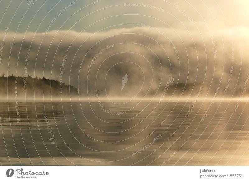 Nebelschleier über dem Bras D´Or Lake Umwelt Natur Landschaft Pflanze Urelemente Luft Wasser Himmel Wolken Sonnenaufgang Sonnenuntergang Frühling Herbst Klima