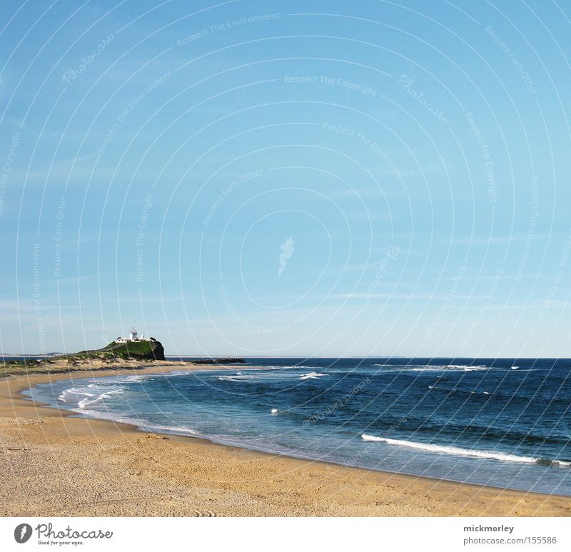 Immer nie am Meer Himmel Sommer Strand Ferne Sand Wärme See Wellen Horizont Turm heiß Leuchtturm Surfer Rauschen