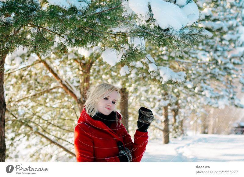 Natur Baum Freude Winter Wald Umwelt Leben Gefühle Schnee feminin Lifestyle Stil Garten Freiheit wild Park