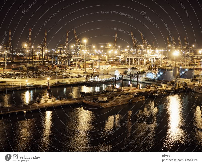 Hafen Himmel Ferien & Urlaub & Reisen Sommer Wasser Meer Ferne Frühling Küste Gebäude Horizont Verkehr leuchten Wellen Ausflug Industrie Abenteuer