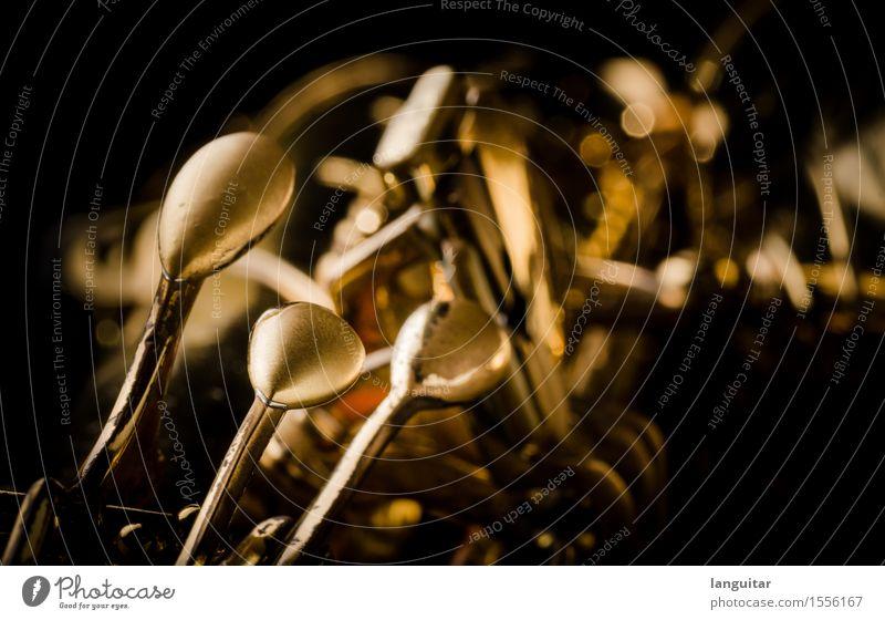 Keys alt schwarz Metall Musik gold Kultur gebraucht Jazz Klappe Patina Saxophon Messing Musik hören