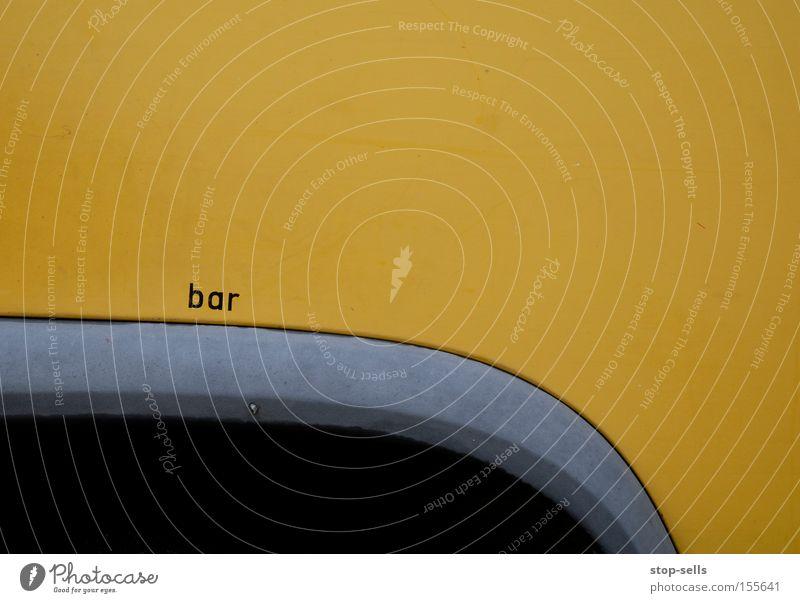 Cocktail Bar Auftrag Gastronomie KFZ gelb Wunder Werbung Druck Luft Theke Alkohol Kneipe PKW Schriftzeichen