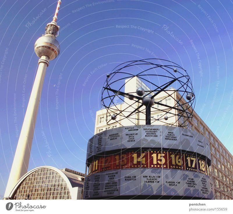 Berlin, Alexanderplatz Stadt Berlin Erde Zeit Ziffern & Zahlen Länder Uhr Denkmal Wahrzeichen Amerika Hauptstadt Verabredung Berliner Fernsehturm Alexanderplatz Planet Prisma