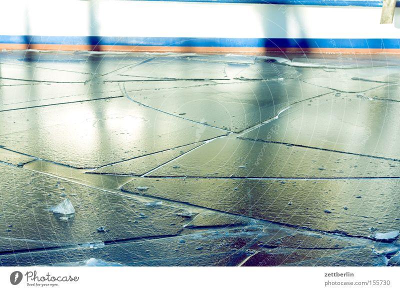 Vorige Woche war Winter Winter Strand kalt Schnee Eis Wasserfahrzeug Küste Frost Spaziergang gefroren Eisscholle Wintertag winterfest Treptow Eisbrecher Bordwand
