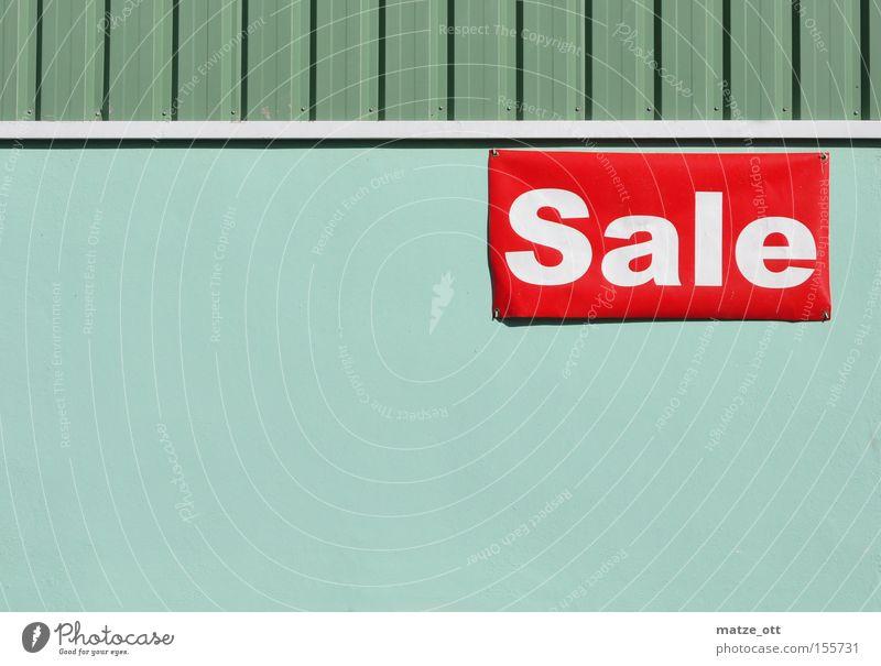 jetzt ist schluß ... Schlussverkauf Sale Winter Sommer kaufen Konsum Markt Ladengeschäft Angebot Ein Schnäppchen machen Detailaufnahme Werbung Hinweisschild SSV