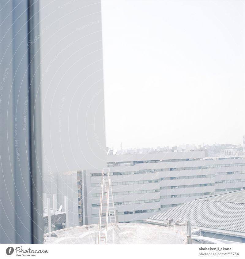 weiß blau Luft Studium Quadrat Japan Tokyo Stimmungsbild