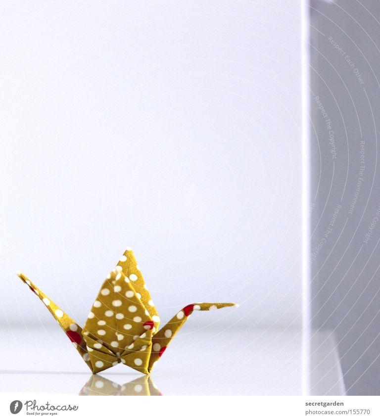 bauhaus in japan. weiß schön Tier Vogel Kunst hell fliegen Freizeit & Hobby Papier niedlich Punkt Kitsch Spielzeug Falte Asien Handwerk