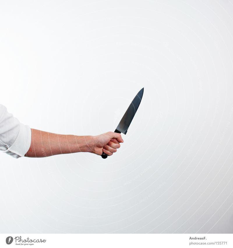 Mackie Messer Hand Angst gefährlich Kochen & Garen & Backen gruselig Panik Beruf Koch Messer Mord Mörder Straftat