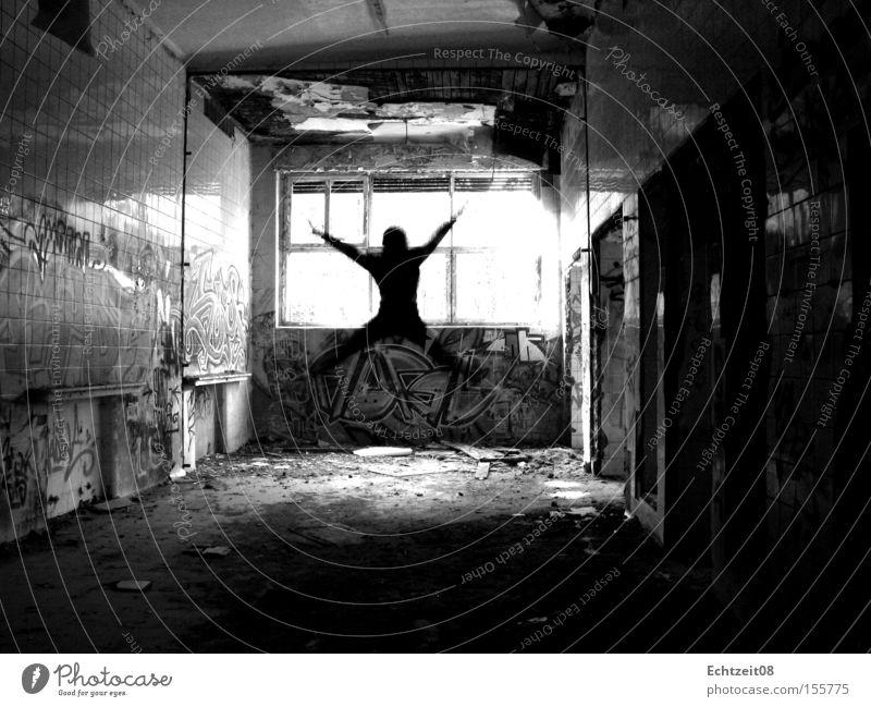 Morph. Jugendliche springen Tod Zeit Macht Zukunft Wandel & Veränderung verfallen Zerstörung verwandeln