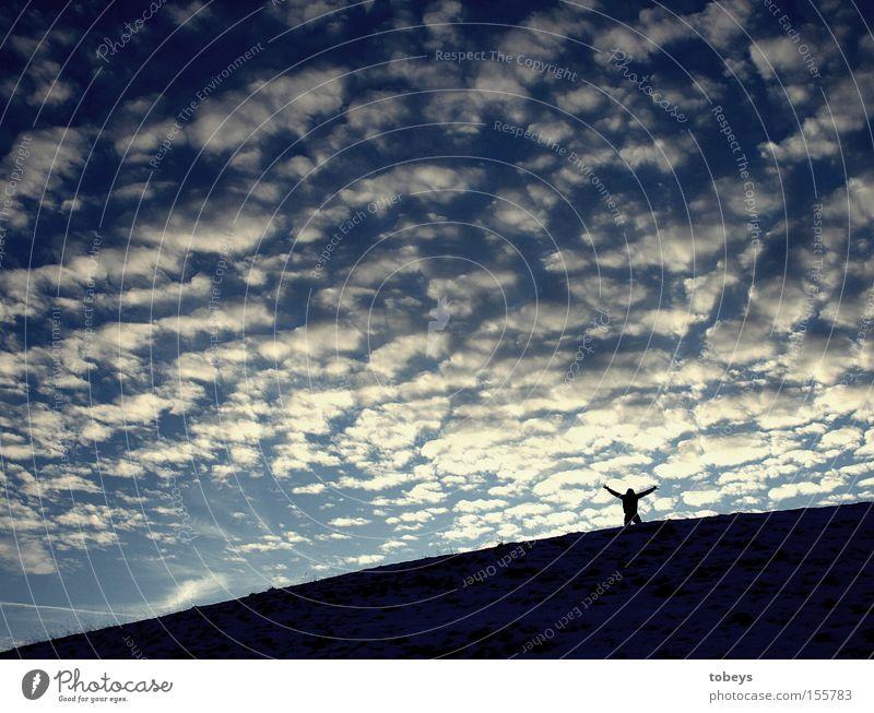 Freiheit Himmel Natur Ferien & Urlaub & Reisen Freude Wolken Erholung Leben Gesundheit Horizont Raum genießen Unendlichkeit Frieden Verkehrswege Bayern