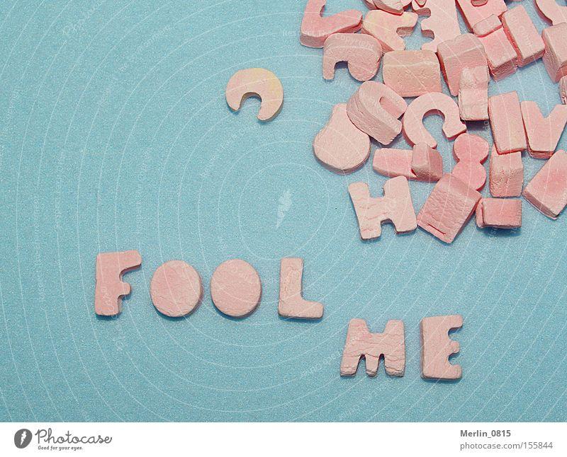 Buchstabenspielerei II blau rosa Schriftzeichen Buchstaben Süßwaren türkis Wort Lateinisches Alphabet auffordern Scrabble
