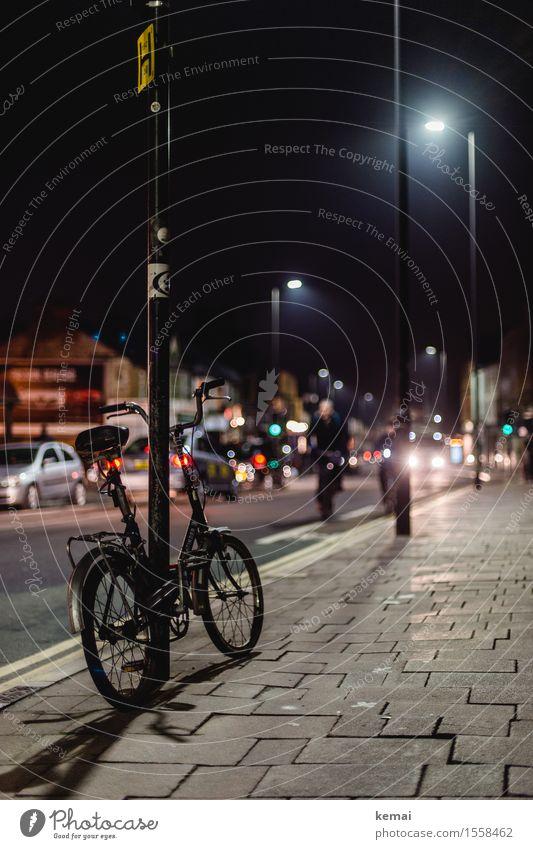 Oxford nights Stadt ruhig dunkel Straße Stadtleben glänzend Verkehr PKW Fahrrad Ausflug authentisch Fahrradfahren Straßenbeleuchtung Bürgersteig Stadtzentrum