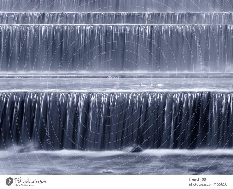 wasser marsch Wasser Winter Linie Ecke Fluss Bach Österreich Wasserfall fließen Absturz Rauschen Strömung Schwerkraft hören Staustufe Flußwehr
