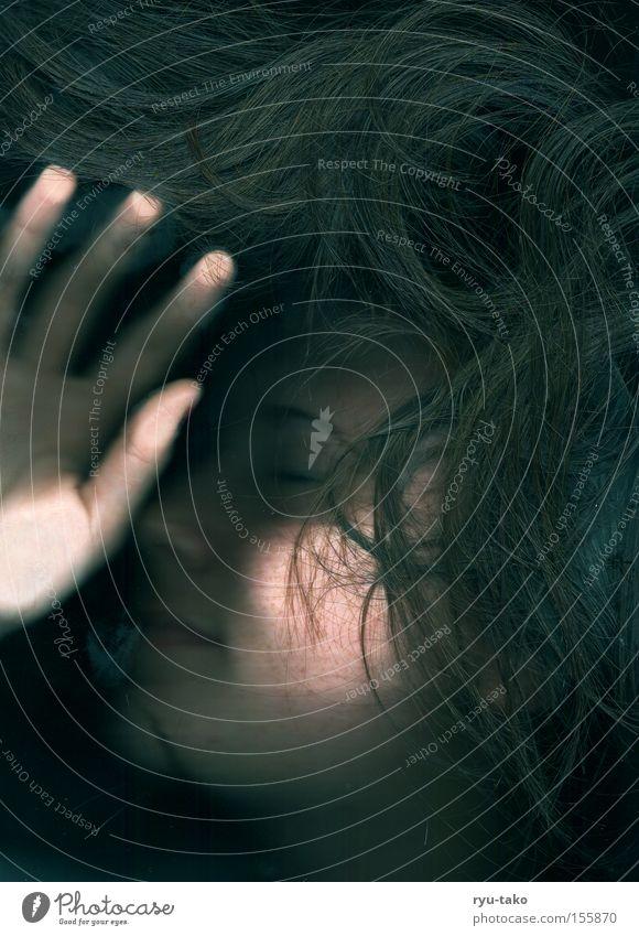 Sweet Dreams Frau schön Gesicht ruhig dunkel Haare & Frisuren träumen schlafen lang Unbeschwertheit Abdruck Fingerabdruck