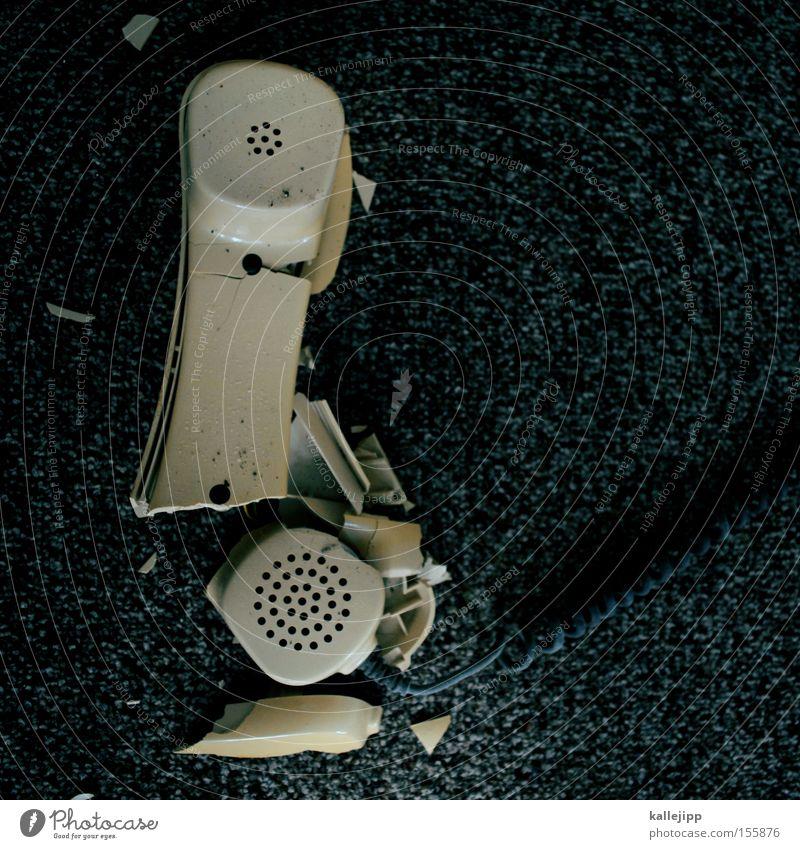 telefonsex Kommunizieren kaputt Technik & Technologie Telekommunikation Telefon Kabel Ohr Verbindung Deutschland Technikfotografie Telefonhörer gestört
