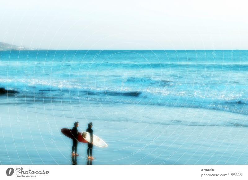 Surfing Meer Sommer Strand Sport Wellen Küste Freizeit & Hobby Surfen Surfer Wassersport Marokko Surfbrett Agadir