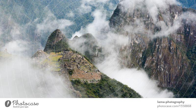 Alter Gipfel Ferien & Urlaub & Reisen Landschaft Wolken Berge u. Gebirge Tourismus wandern Abenteuer Wahrzeichen Sehenswürdigkeit Ruine Südamerika