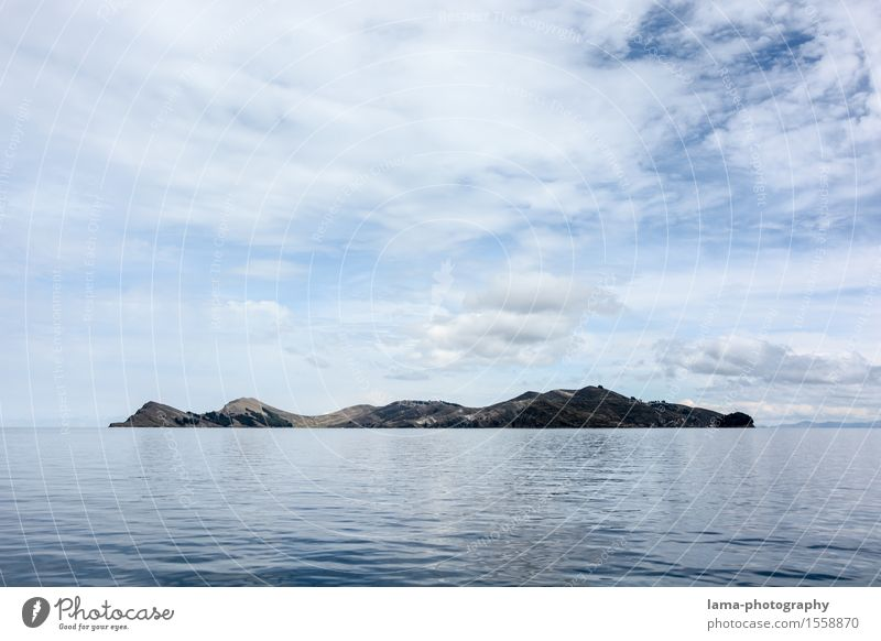 Lago Titicaca Himmel Ferien & Urlaub & Reisen Wasser Erholung Landschaft Wolken See Insel Wasseroberfläche Südamerika Peru Bolivien Inka Titicacasee