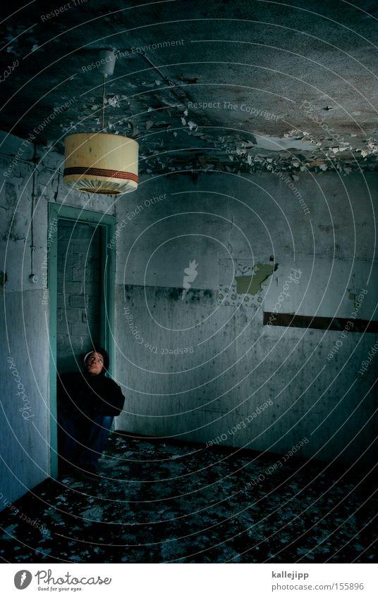 einfall vs. verfall Lampe Wohnzimmer Mensch Bewohner Lampenschirm Häusliches Leben Innenarchitektur intern Möbel Interview Design Tapete planen Miete