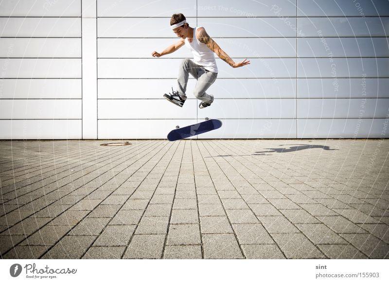 Jugendliche Sport Spielen Skateboarding Schlittschuhlaufen Funsport