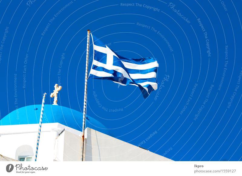 Griechenland alte Konstruktion und der Himmel Ferien & Urlaub & Reisen blau schön Sommer Farbe weiß Landschaft schwarz Architektur Religion & Glaube Gebäude