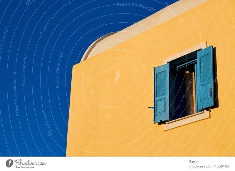 Architektur Hintergrund Santorini g Stil Design schön Wohnung Haus Kunst Himmel Stadt Gebäude Fassade Beton Metall alt hell modern neu retro blau braun gelb
