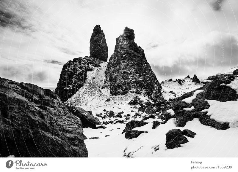 The Old Man Himmel Natur Ferien & Urlaub & Reisen alt Landschaft Wolken Winter Berge u. Gebirge kalt Umwelt Frühling außergewöhnlich Felsen wandern einzigartig