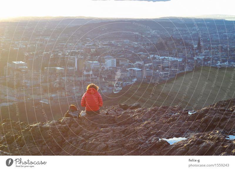 Arthur's Seat Ferien & Urlaub & Reisen Jugendliche Stadt Junge Frau Sonne Landschaft ruhig Winter Berge u. Gebirge Frühling Haare & Frisuren Felsen träumen Park