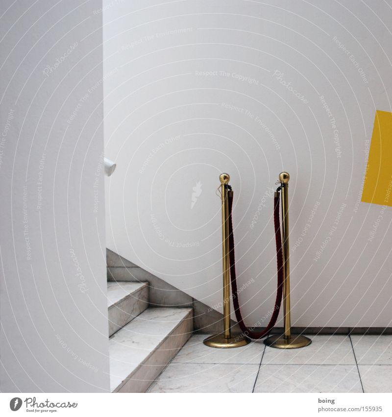 roter Wandteppich Eingang Barriere Jetset Backstage Türsteher Durchgang Kontrolle Veranstaltung Bühne Treppe Roter Teppich Kunst Kultur Reichtum Ausstellung