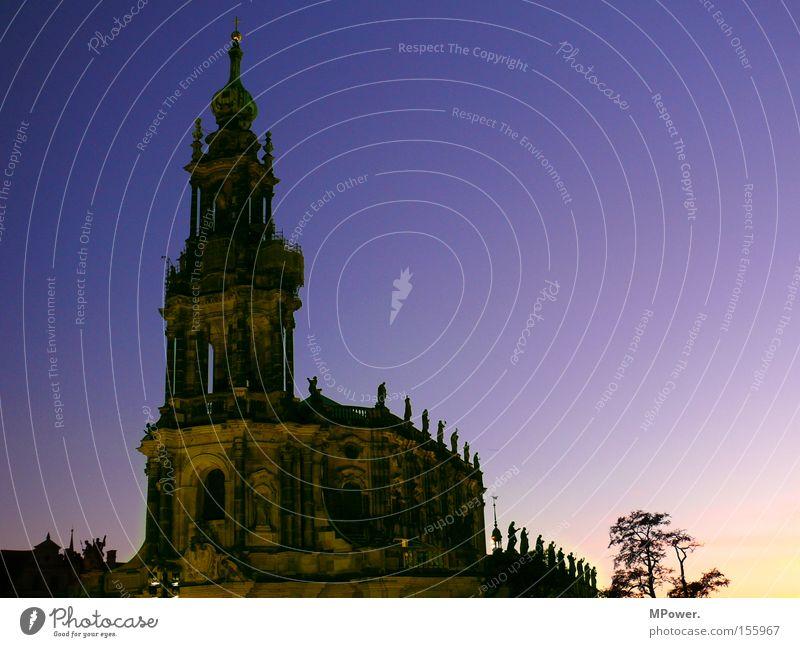 .:DD:.² Religion & Glaube Kultur Dresden historisch Abenddämmerung Altbau Altstadt Gotteshäuser Farbverlauf Farbenspiel Abendsonne