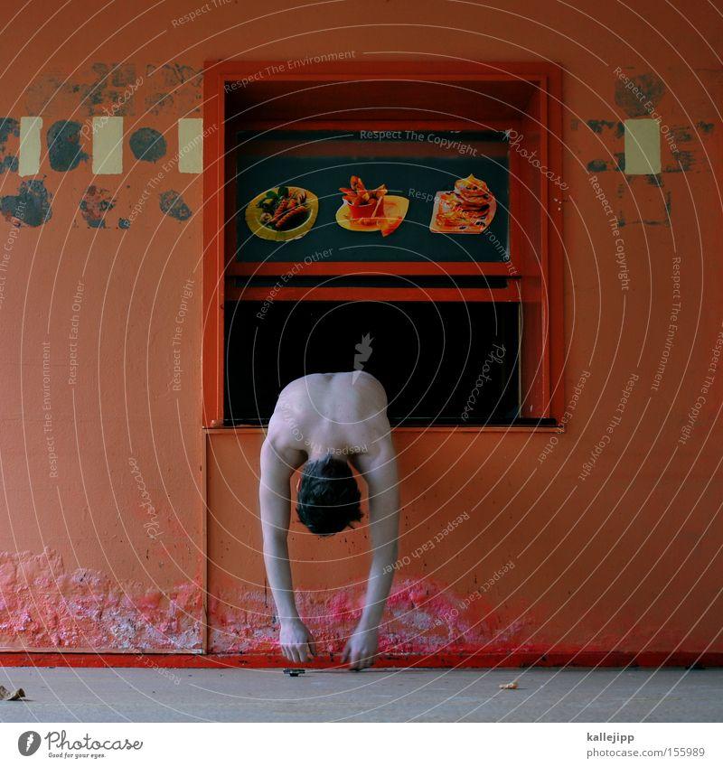 rippchen mit sauerkraut Mensch nackt lustig Ernährung Gastronomie seltsam Koch Erschöpfung Fastfood ungesund spaßig Imbiss Luke Spaßvogel Durchbruch Übelkeit