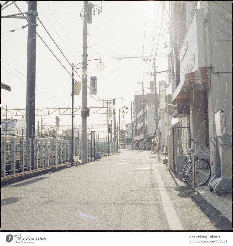 Straße Luft Studium Quadrat Japan Tokyo Stimmung Stimmungsbild Lichteffekt