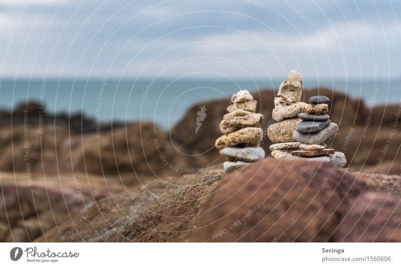 Steintürmchen Ferien & Urlaub & Reisen Tourismus Ausflug Ferne Strand Insel Wellen Natur Landschaft Frühling Nordsee Ostsee Meer Erholung Freizeit & Hobby
