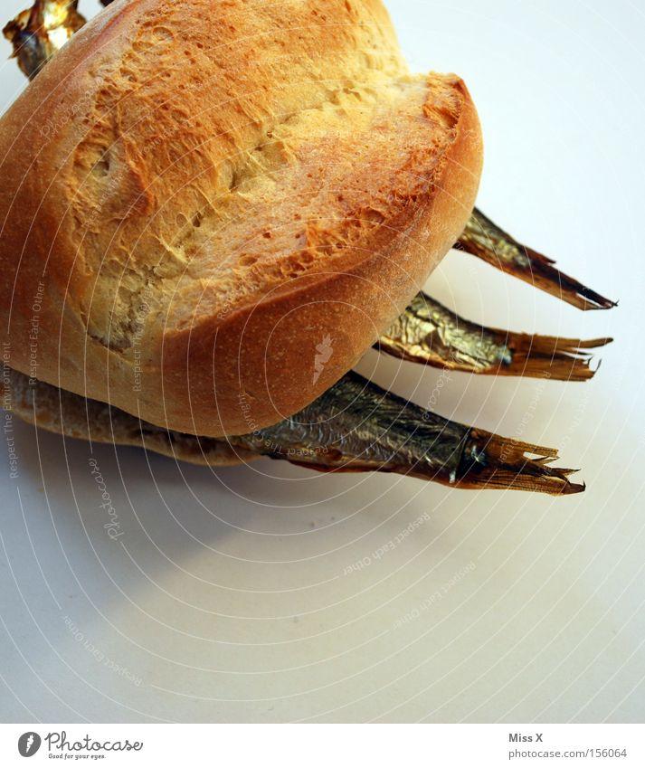 lecker Fisch Farbfoto Lebensmittel Brötchen Ernährung Abendessen Fastfood Appetit & Hunger Fischbrötchen Makrele Mahlzeit Schwanz Geruch verdorben Sprotte