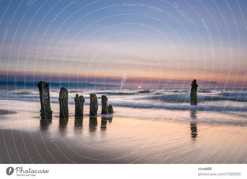 Buhne an der Küste der Ostsee Natur Ferien & Urlaub & Reisen alt Wasser Sonne Meer Erholung Landschaft Wolken Strand Tourismus Idylle Romantik