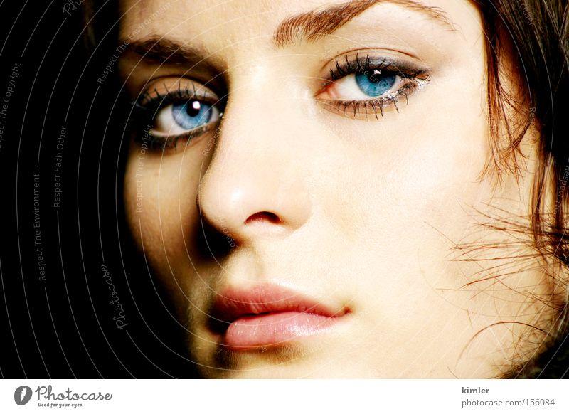 starker ausdruck Frau Porträt Gesicht Mund Model Diva