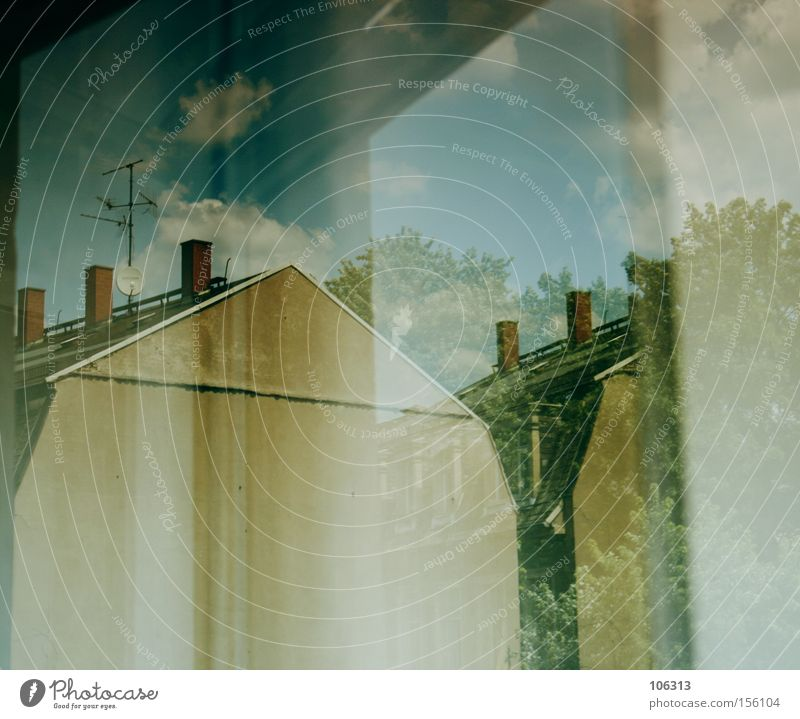 Fotonummer 110880 Haus Wand Reflexion & Spiegelung Niveau Dresden Fenster Licht Himmel Verkehrswege Architektur