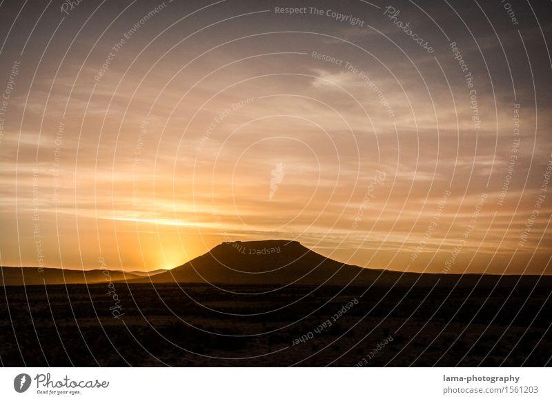 Das letzte Licht Landschaft Himmel Sonnenaufgang Sonnenuntergang Sonnenlicht Hügel Bolivien Südamerika Ferne Steppe Farbfoto Außenaufnahme Silhouette