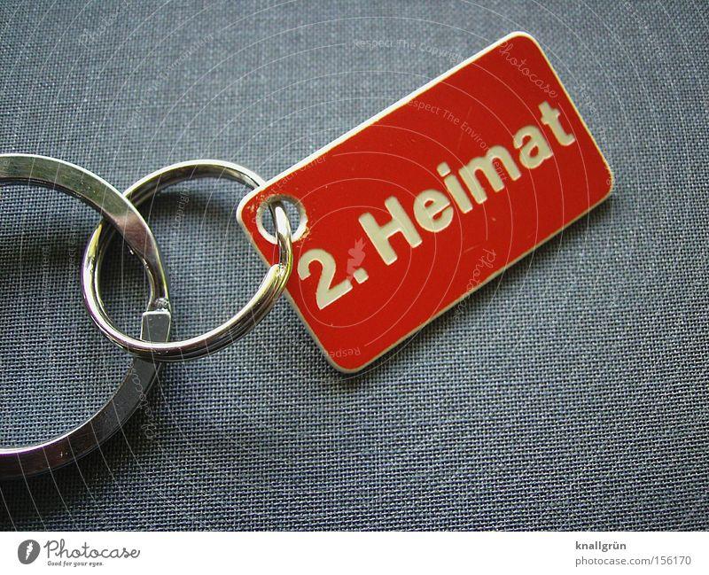 2. Heimat rot Leben grau Wohnung Sicherheit Schriftzeichen Buchstaben Häusliches Leben Hinweisschild Schilder & Markierungen Schlüsselanhänger