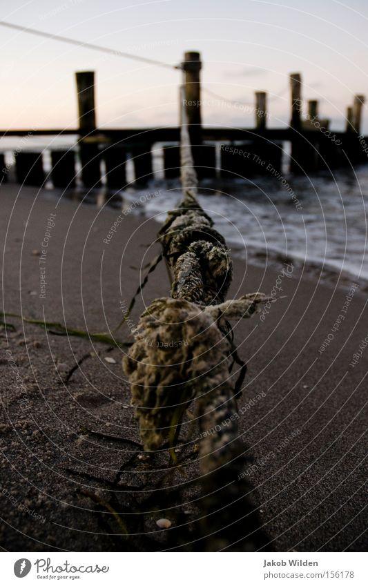 Strand Wasser Himmel Meer Winter Sand Küste Seil Erde Anlegestelle Darß Zingst Fischland