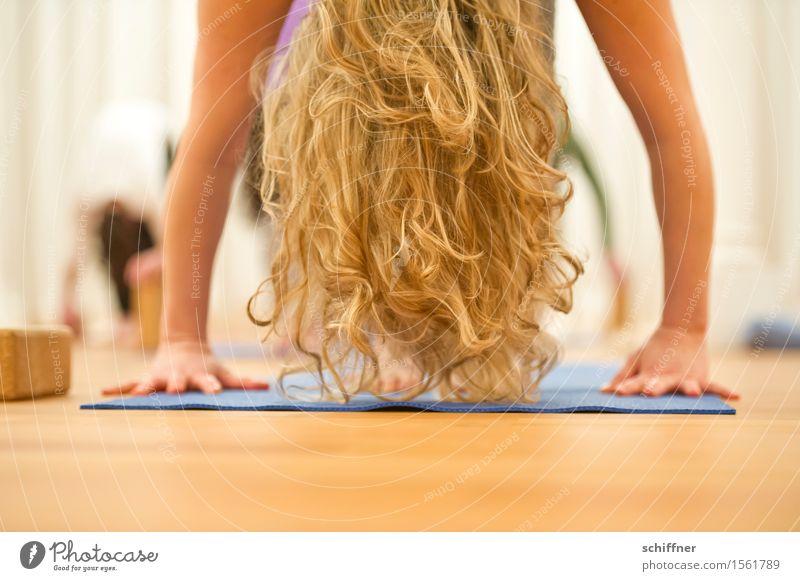 Rapunzel-Übung Gesundheit Wellness Leben harmonisch Zufriedenheit Erholung Meditation Freizeit & Hobby Sport Yoga Mensch feminin Junge Frau Jugendliche