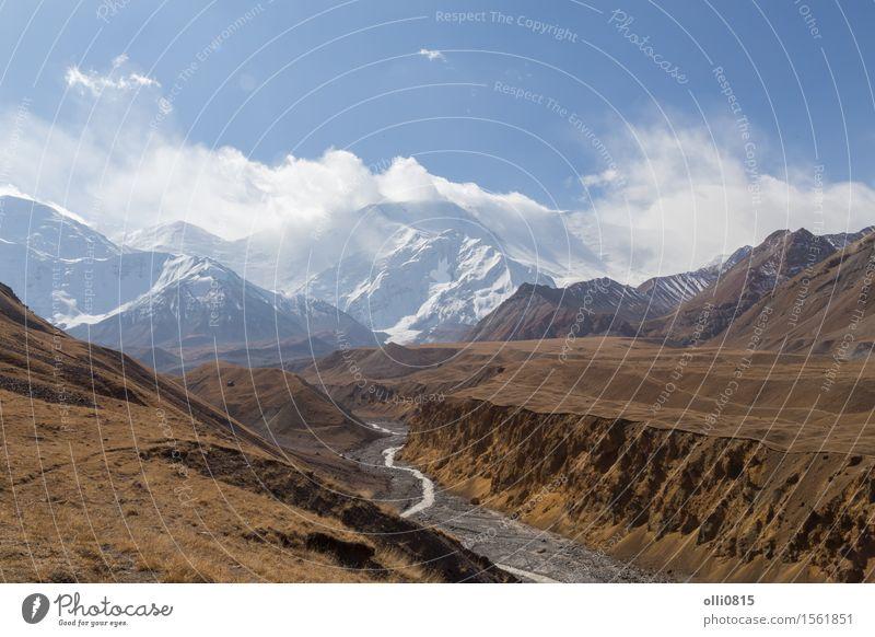 Pamir-Gebirgszug und Pik Lenin, Kirgisistan Ferien & Urlaub & Reisen Berge u. Gebirge wandern Natur Landschaft Gipfel Panorama national Tal Mogul Kirgisisch