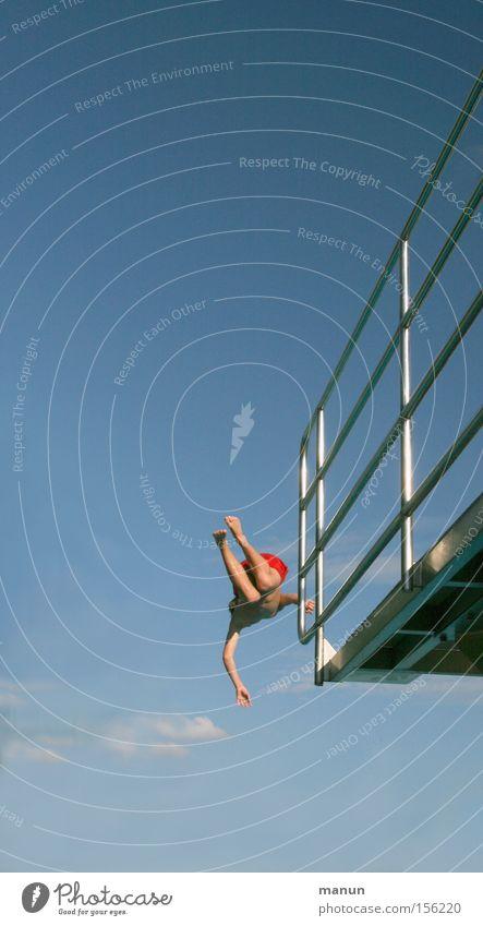 I believe I can fly Jugendliche Bewegung Sport Fitness Sommer Erfolg Mut Freiheit springen Freude Glück Lebensfreude Können