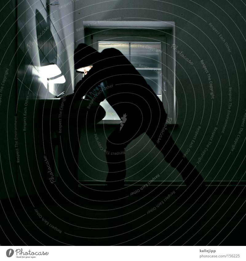 schatz im silbersee Mensch Mann schwarz dunkel Beleuchtung Sauberkeit Bad Spiegel Toilette Waschbecken Körperpflegeutensilien