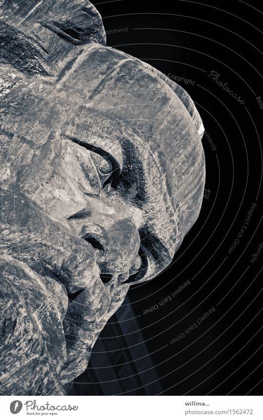 Karl Marx Monument Sehenswürdigkeit Wahrzeichen Denkmal monumental Skulptur Politik & Staat Karl-Marx-Kopf Philosoph Kommunismus Sozialismus