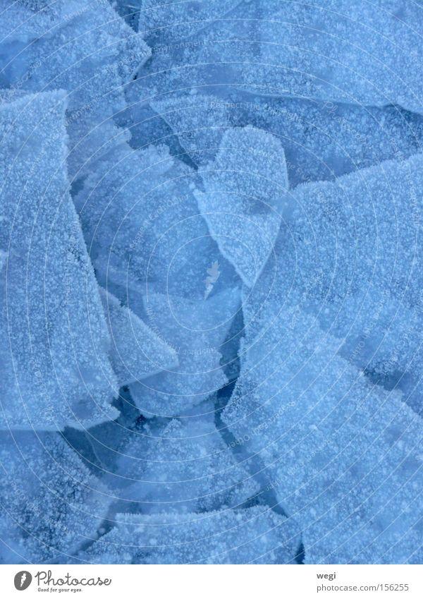 Eis am Chiemsee Natur blau Winter Schnee Bayern