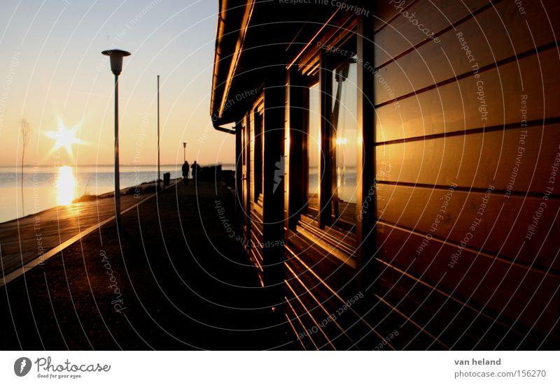 Unterschlupf an einem frostigen Tag. schön Winter kalt See Deutschland Frieden Hütte gemütlich Geborgenheit friedlich Himmelskörper & Weltall Niedersachsen