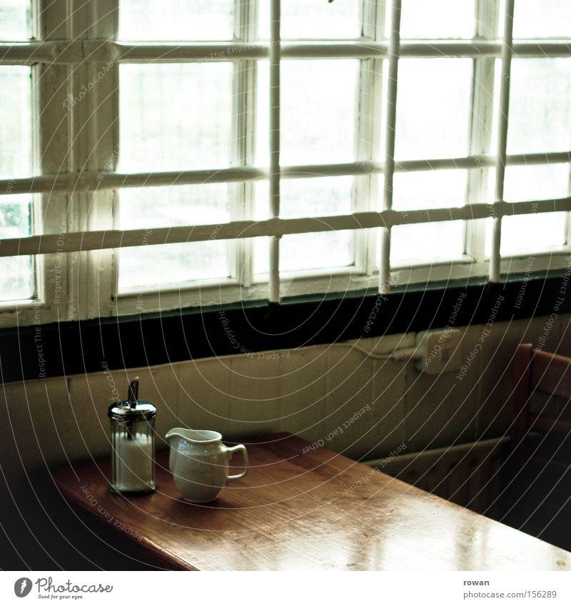 milch und zucker ruhig Erholung Wärme hell Pause Sicherheit Kaffee Café Gitter Zucker ruhen Getränk innehalten