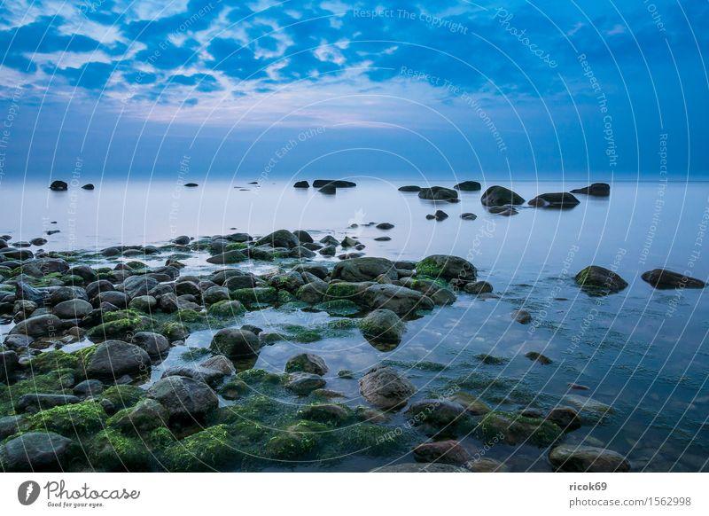Die Ostseeküste auf der Insel Rügen Erholung Ferien & Urlaub & Reisen Tourismus Strand Meer Natur Landschaft Wolken Felsen Küste Stein blau Romantik Idylle